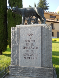 The legend of Rome is represented in Segovia