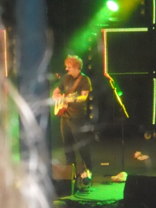 Very bad picture of Ed Sheeran. One day I force myself to the front to get some good pictures