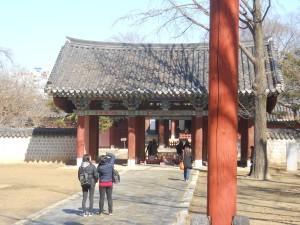 These curved roofs are a signature part of Jeonju Hanok Village