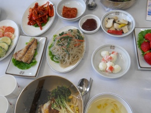 A Typical Korean Lunch
