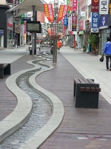 Stream Street: One of Pohang's shopping destinations.