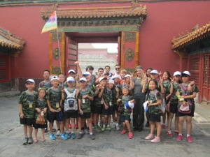 A children's camp followed us around the Forbidden City before finally asking for a picture. You can just make me out in the back.
