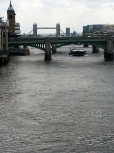 View down the Thames River