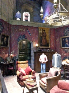 Common room with costumes from the 1st and 3rd movie