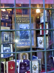 Hogsmeade window display