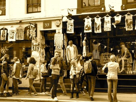 Crowds at Portobello Road Market