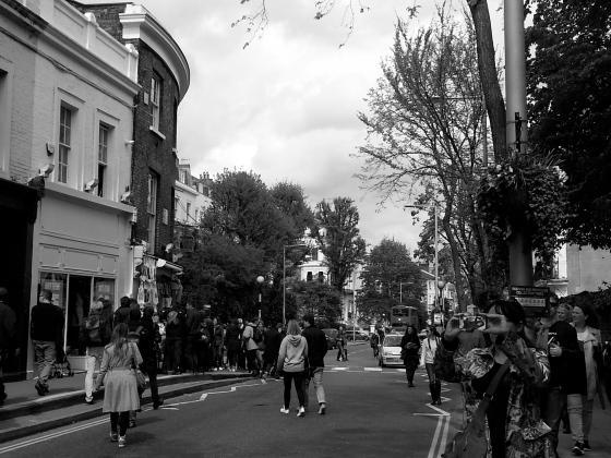 A rare empty street