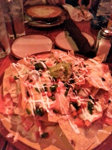 Nachos and Shrimp Enchiladas @ The Pink Taco at the Hard Rock Hotel