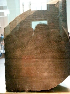 The Rosetta Stone-notice the crowds in the reflection