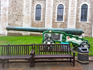 Weapons on display at the Tower of London