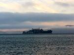 View of Alcatraz in sunset