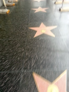 Blurry avenue of the stars- LA