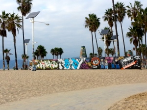 Venice Beach: Palm Trees and Graffiti