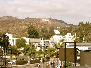 View of the Hollywood Sign from Highland Center