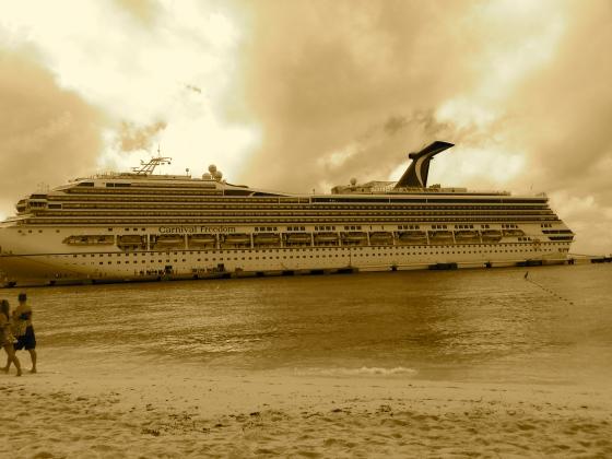 Carnival Freedom Cruise Ship  wordless wednesday