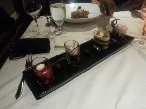Chocolate Dessert Sampler carnival cruise food