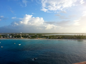 Ship pulling into Grand Turk